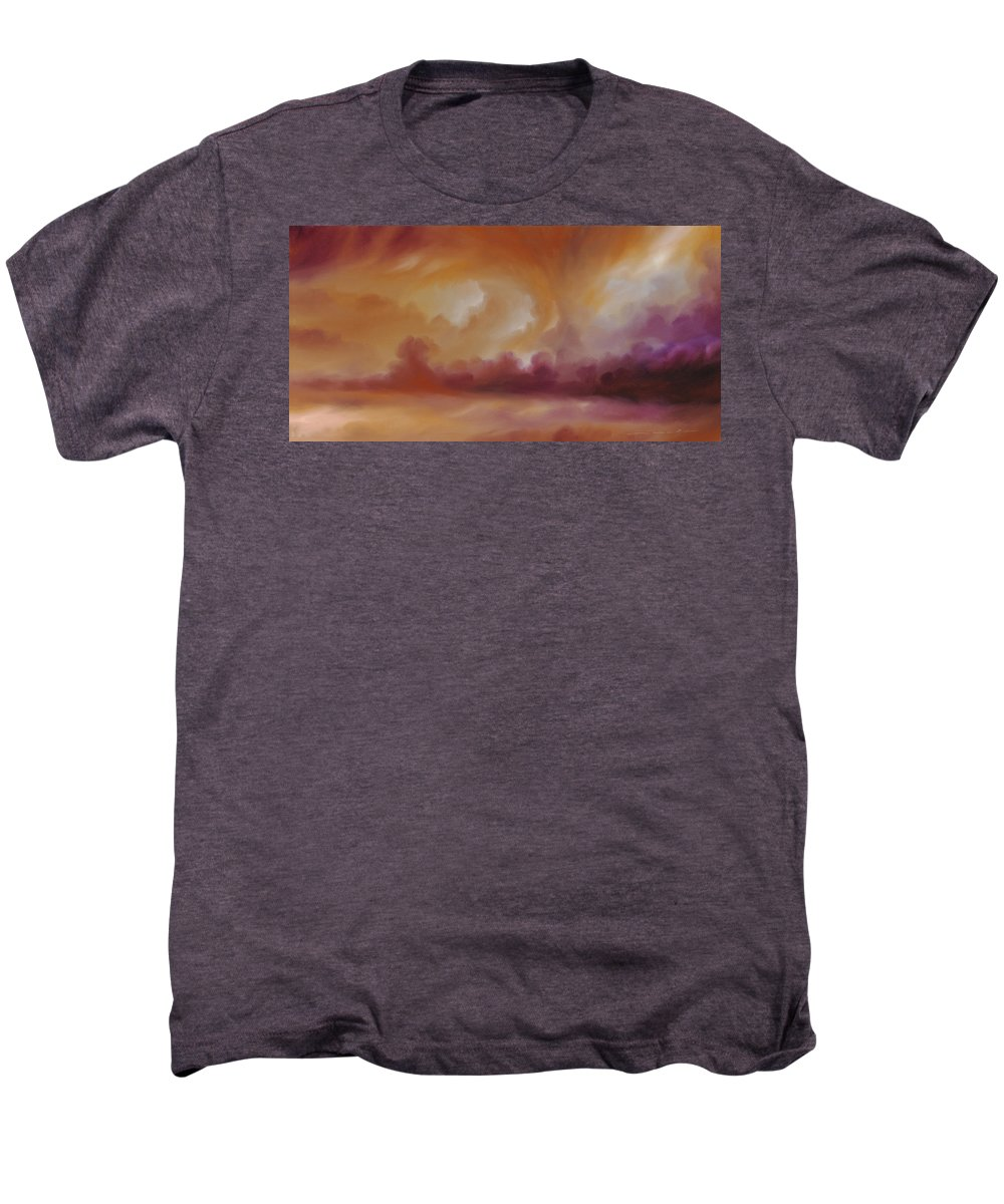Tempest Men's Premium T-Shirt featuring the painting Storm Clouds 2 by James Christopher Hill