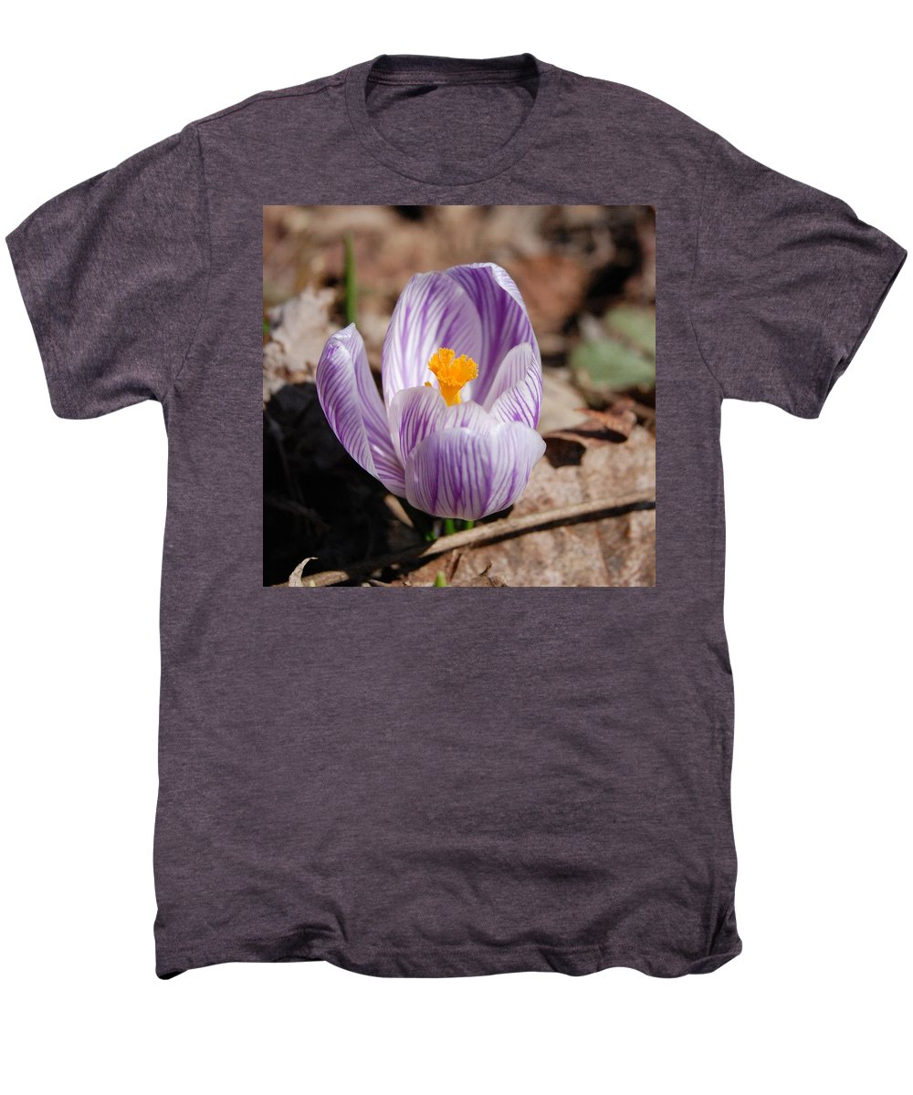 Digital Photography Men's Premium T-Shirt featuring the photograph Striped Crocus by David Lane