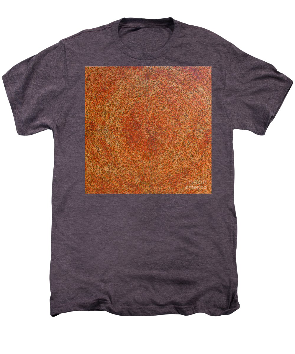 Abstract Men's Premium T-Shirt featuring the painting Su Gaia Earth by Dean Triolo