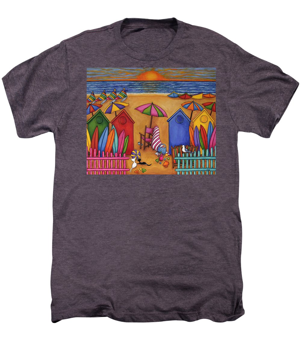 Summer Men's Premium T-Shirt featuring the painting Summer Delight by Lisa Lorenz