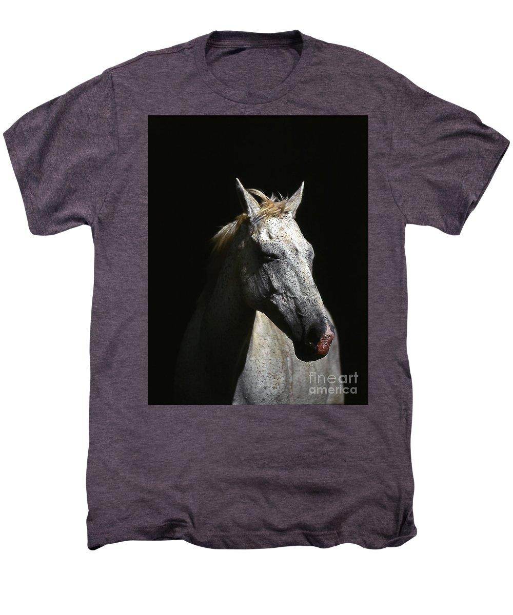 Horse Men's Premium T-Shirt featuring the photograph Sundance by Jim Cazel