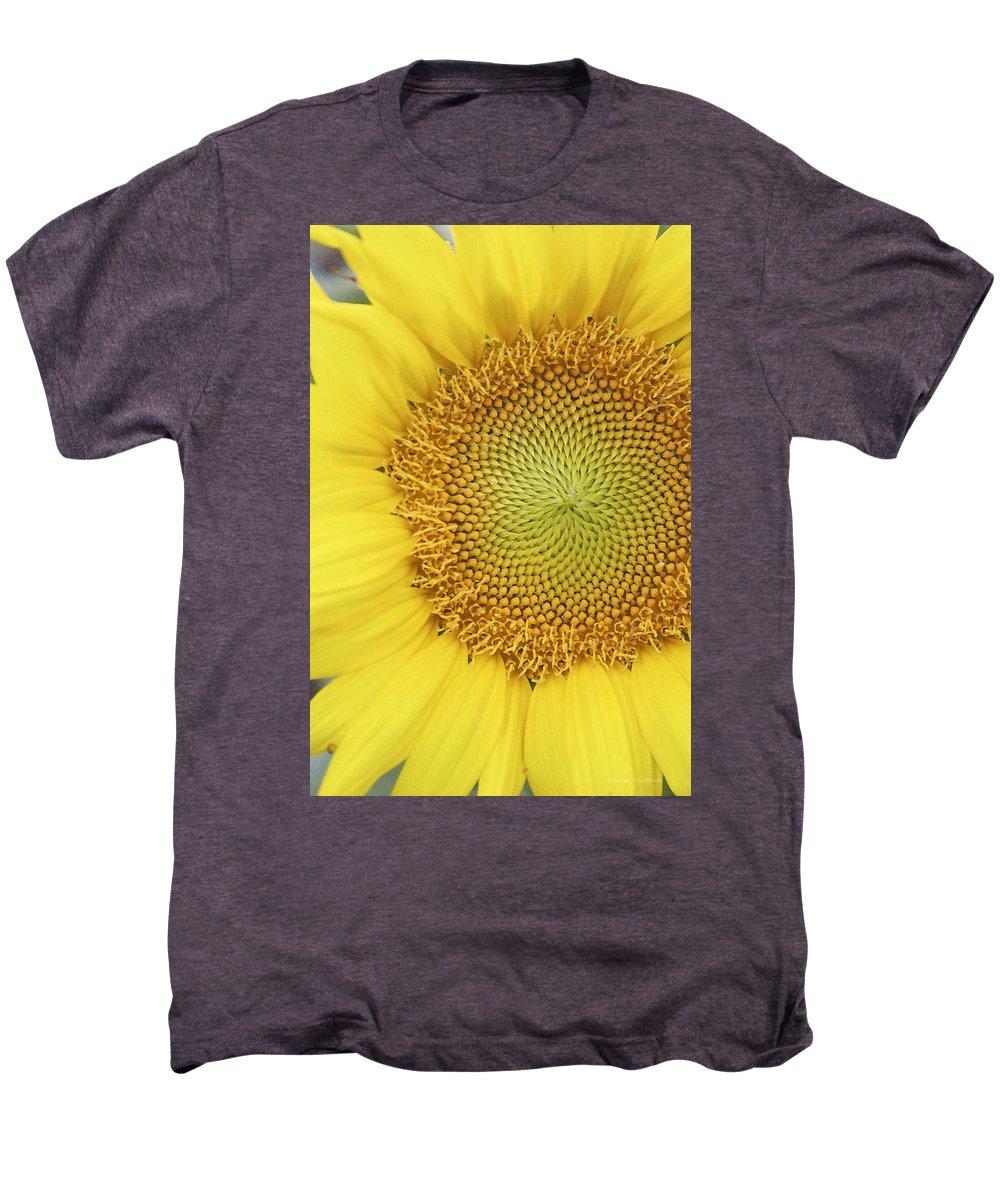 Sunflower Men's Premium T-Shirt featuring the photograph Sunflower by Margie Wildblood