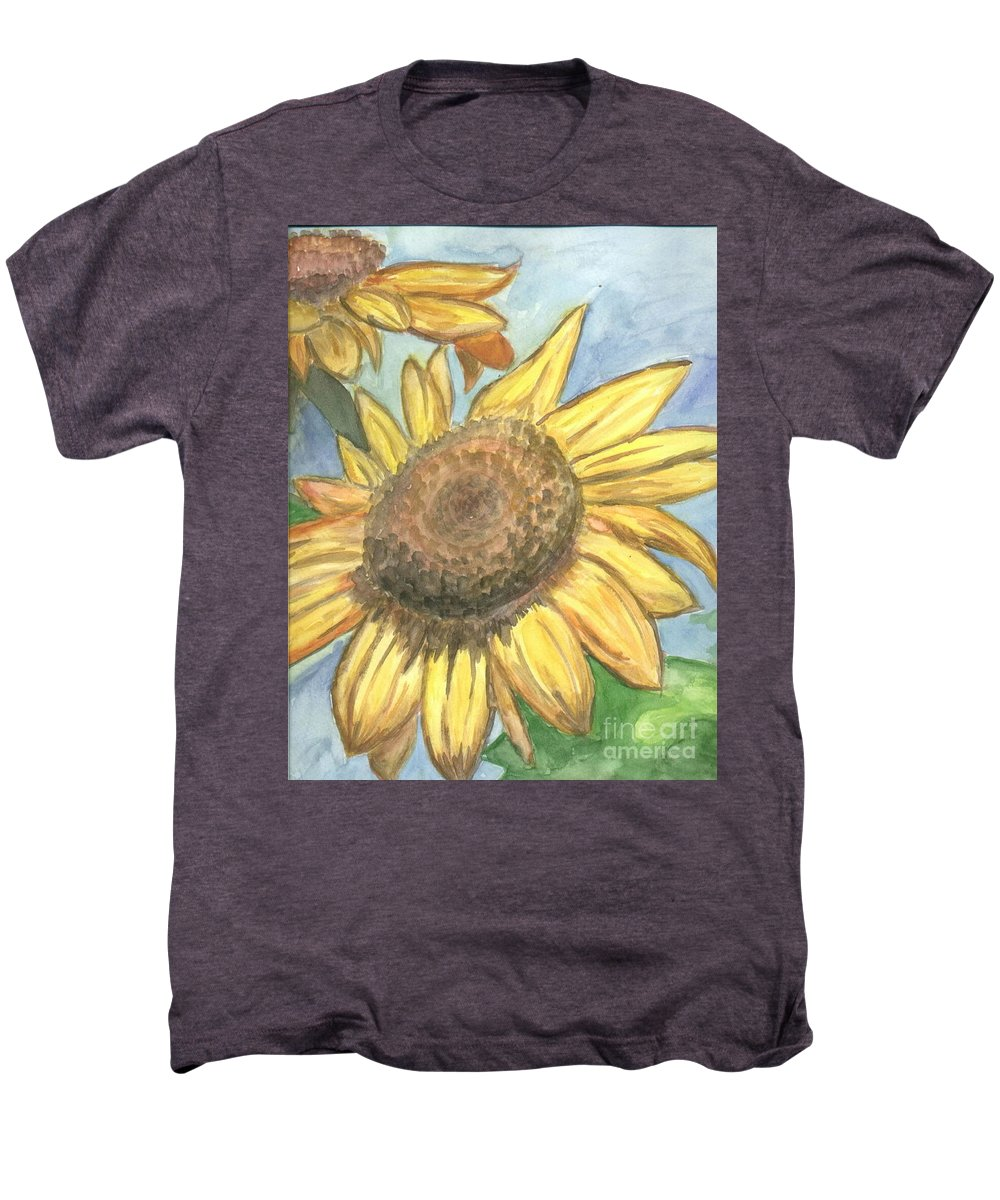 Daisy Men's Premium T-Shirt featuring the painting Sunflowers by Jacqueline Athmann
