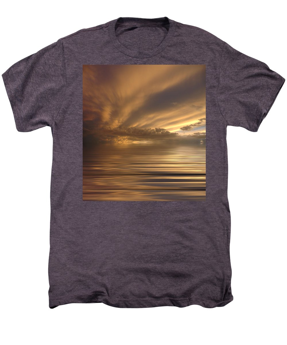 Sunset Men's Premium T-Shirt featuring the photograph Sunset At Sea by Jerry McElroy