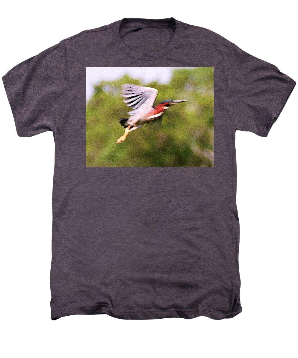 Wild Life Men's Premium T-Shirt featuring the digital art Take Off by Steve Karol