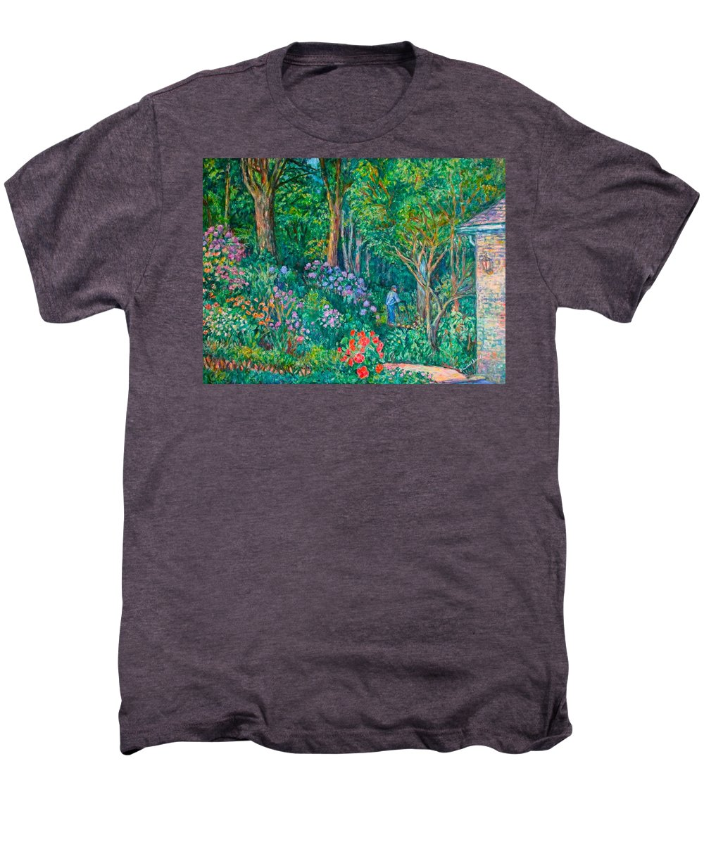 Suburban Paintings Men's Premium T-Shirt featuring the painting Taking A Break by Kendall Kessler