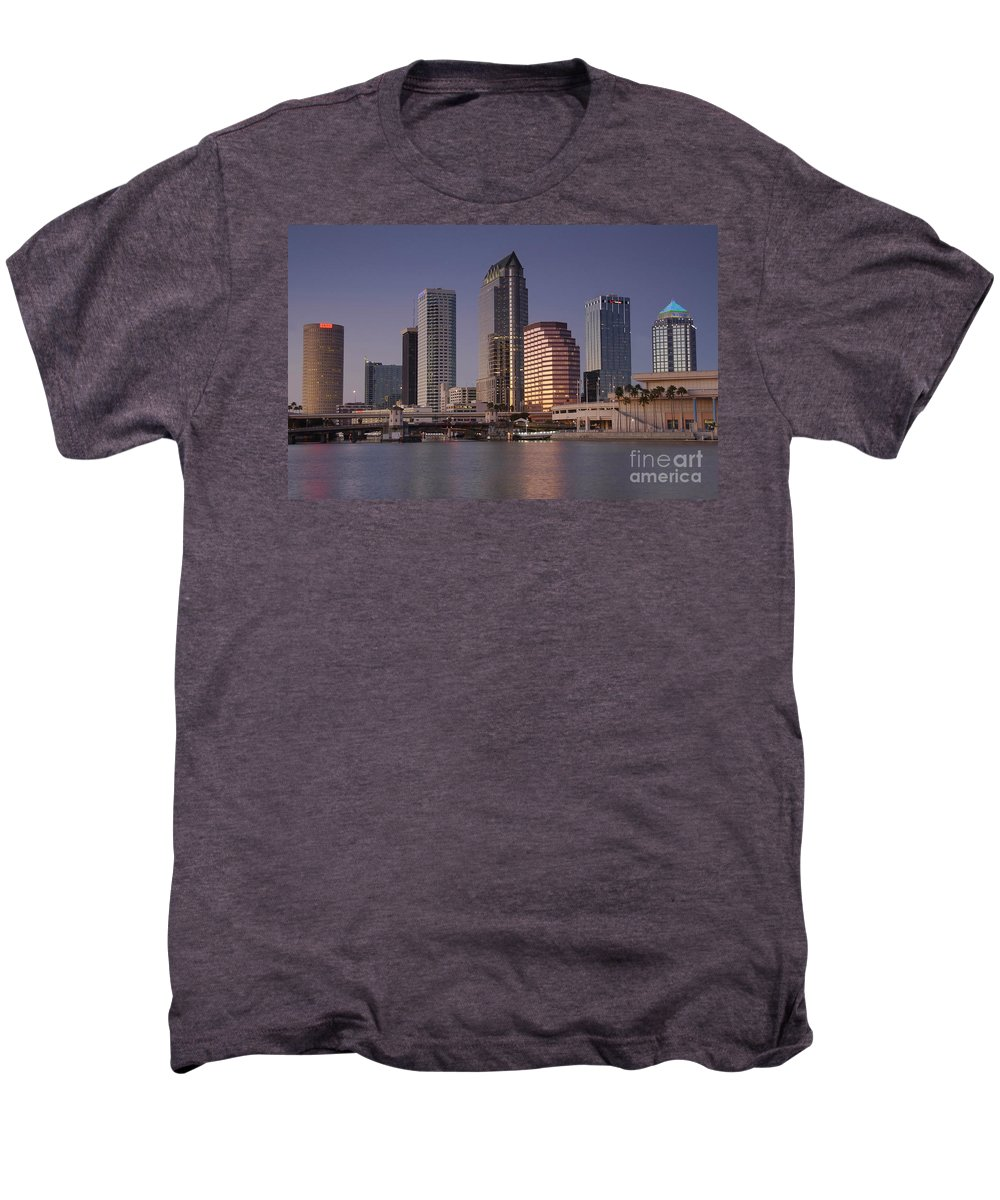 Tampa Florida Men's Premium T-Shirt featuring the photograph Tampa Florida by David Lee Thompson