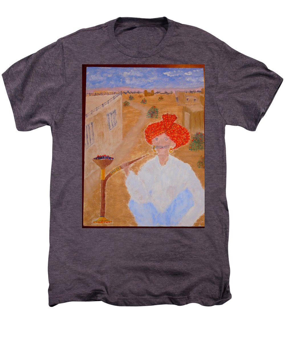 People Men's Premium T-Shirt featuring the painting Tau by R B