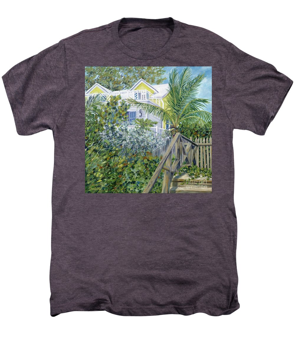 Beach House Men's Premium T-Shirt featuring the painting The Beach House by Danielle Perry