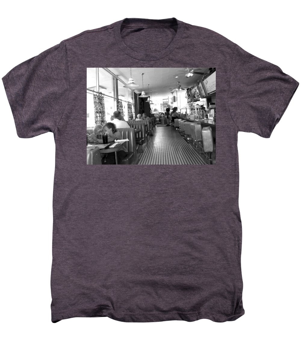 Diner Men's Premium T-Shirt featuring the photograph The Diner by Wayne Potrafka