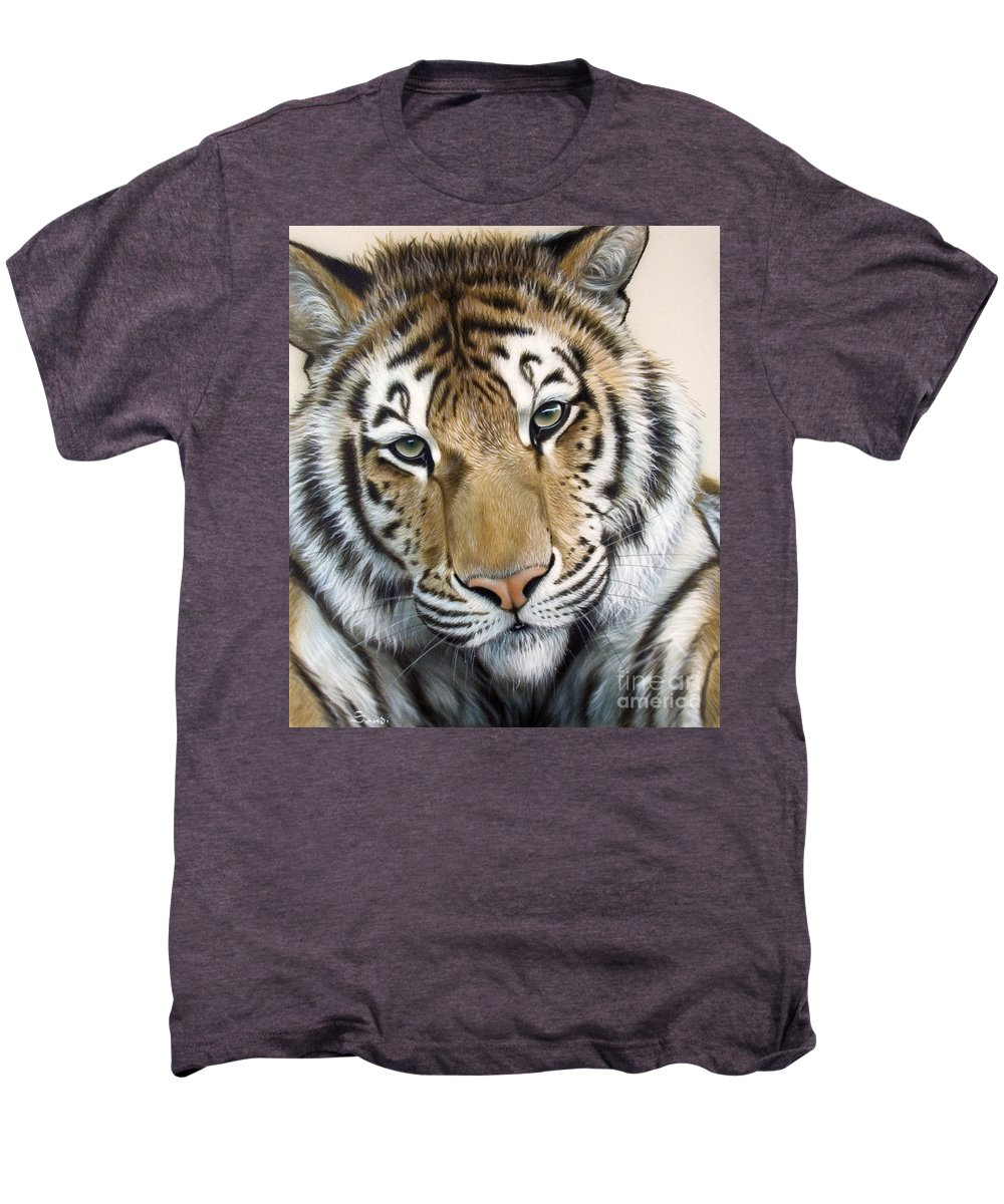 Acrylic Men's Premium T-Shirt featuring the painting The Embrace by Sandi Baker