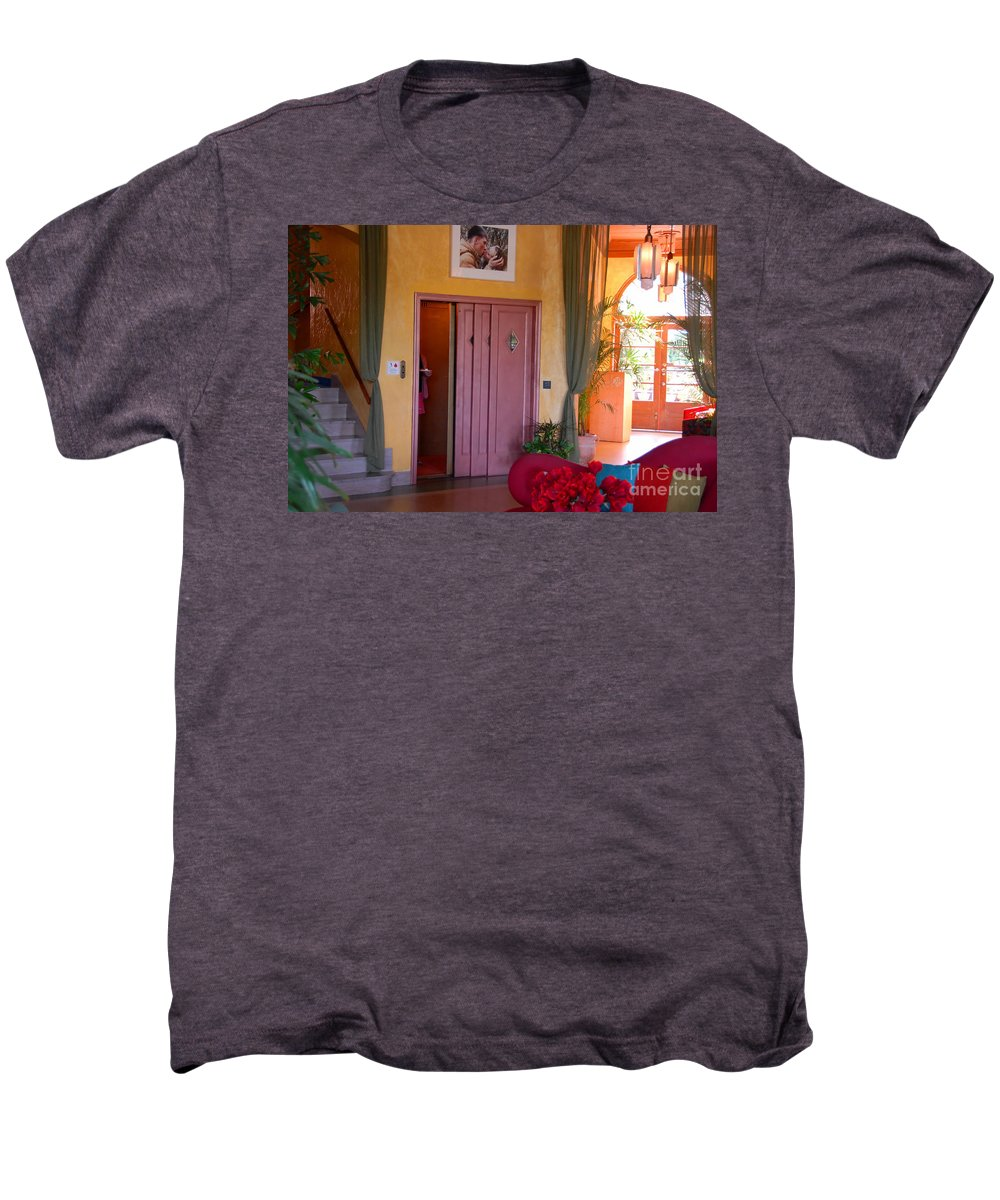 Miami Florida Men's Premium T-Shirt featuring the photograph The Kiss by David Lee Thompson