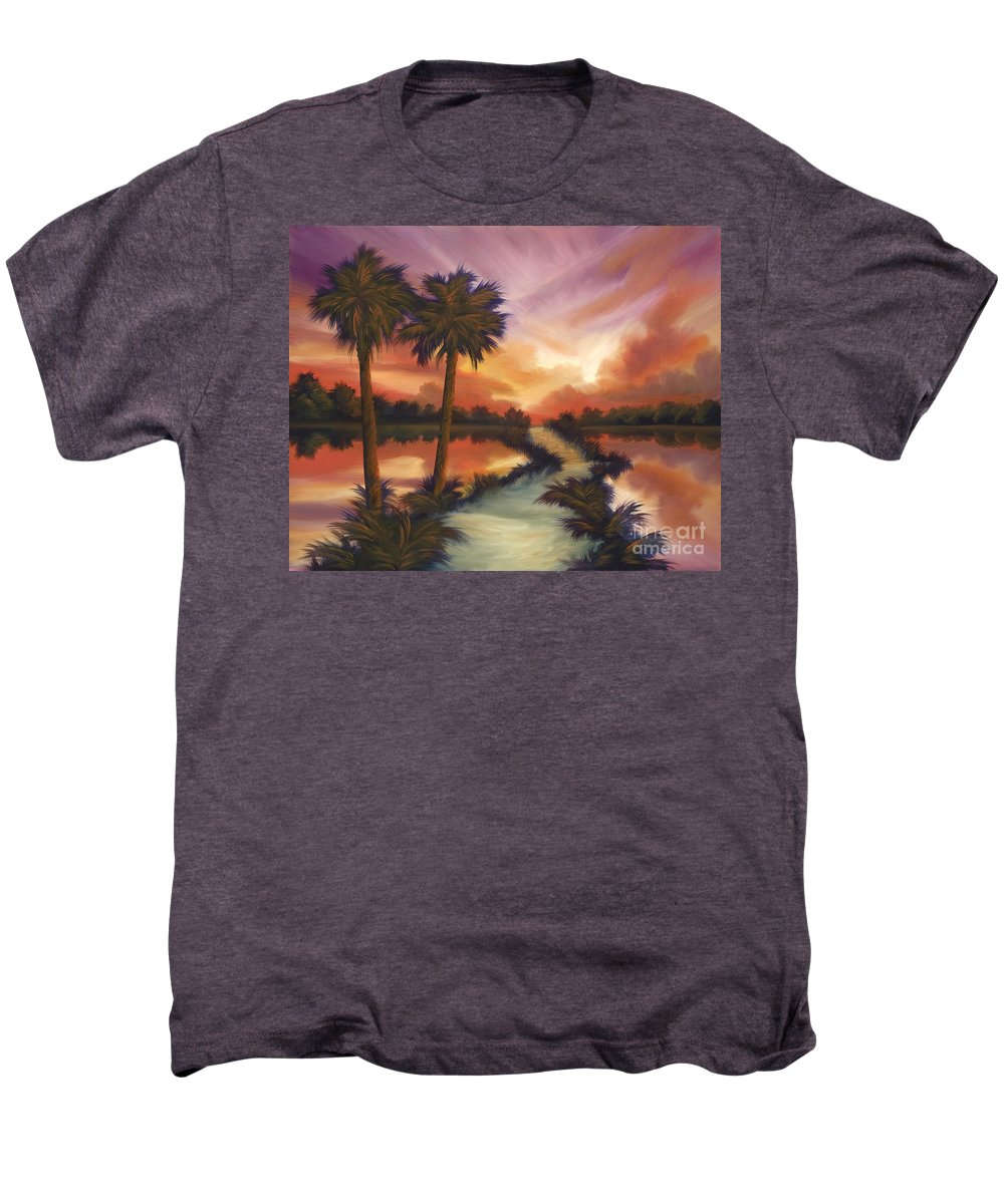 Skyscape Men's Premium T-Shirt featuring the painting The Lane Ahead by James Christopher Hill