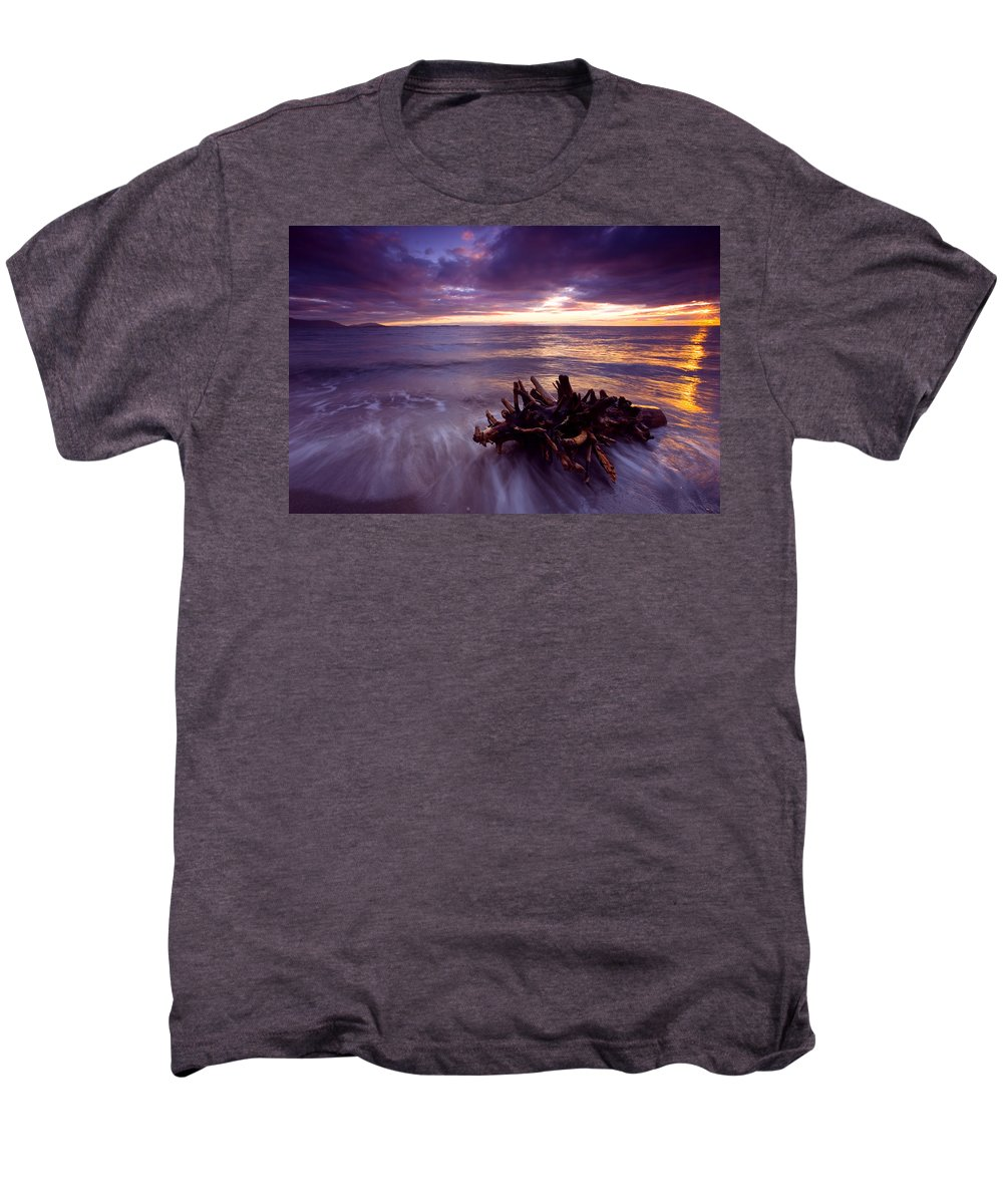 Sunset Men's Premium T-Shirt featuring the photograph Tide Driven by Mike Dawson