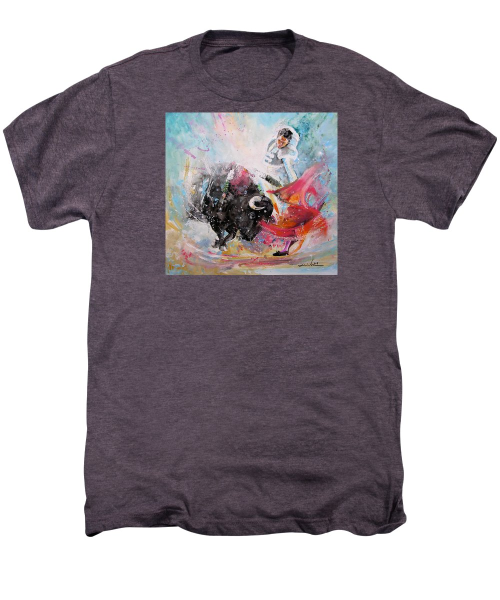 Animals Men's Premium T-Shirt featuring the painting Toro Tempest by Miki De Goodaboom