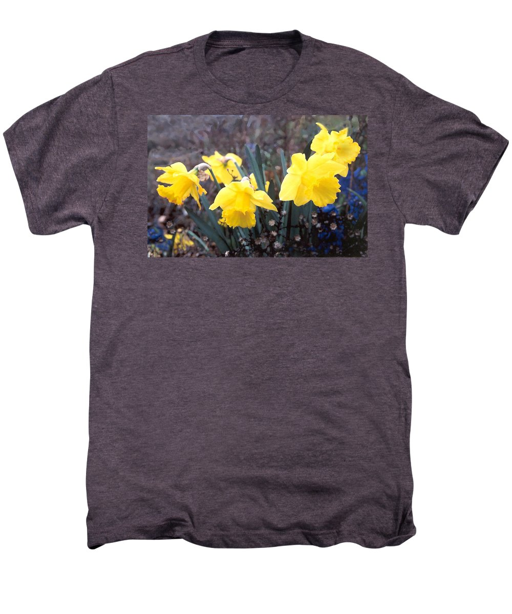Flowes Men's Premium T-Shirt featuring the photograph Trumpets Of Spring by Steve Karol