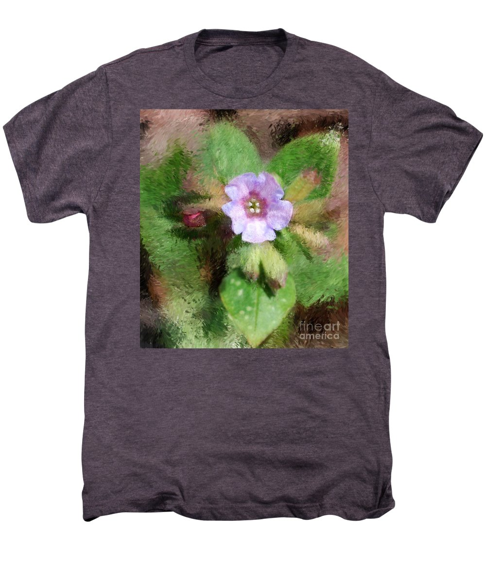 Digital Photo Men's Premium T-Shirt featuring the photograph Untitled Floral -1 by David Lane