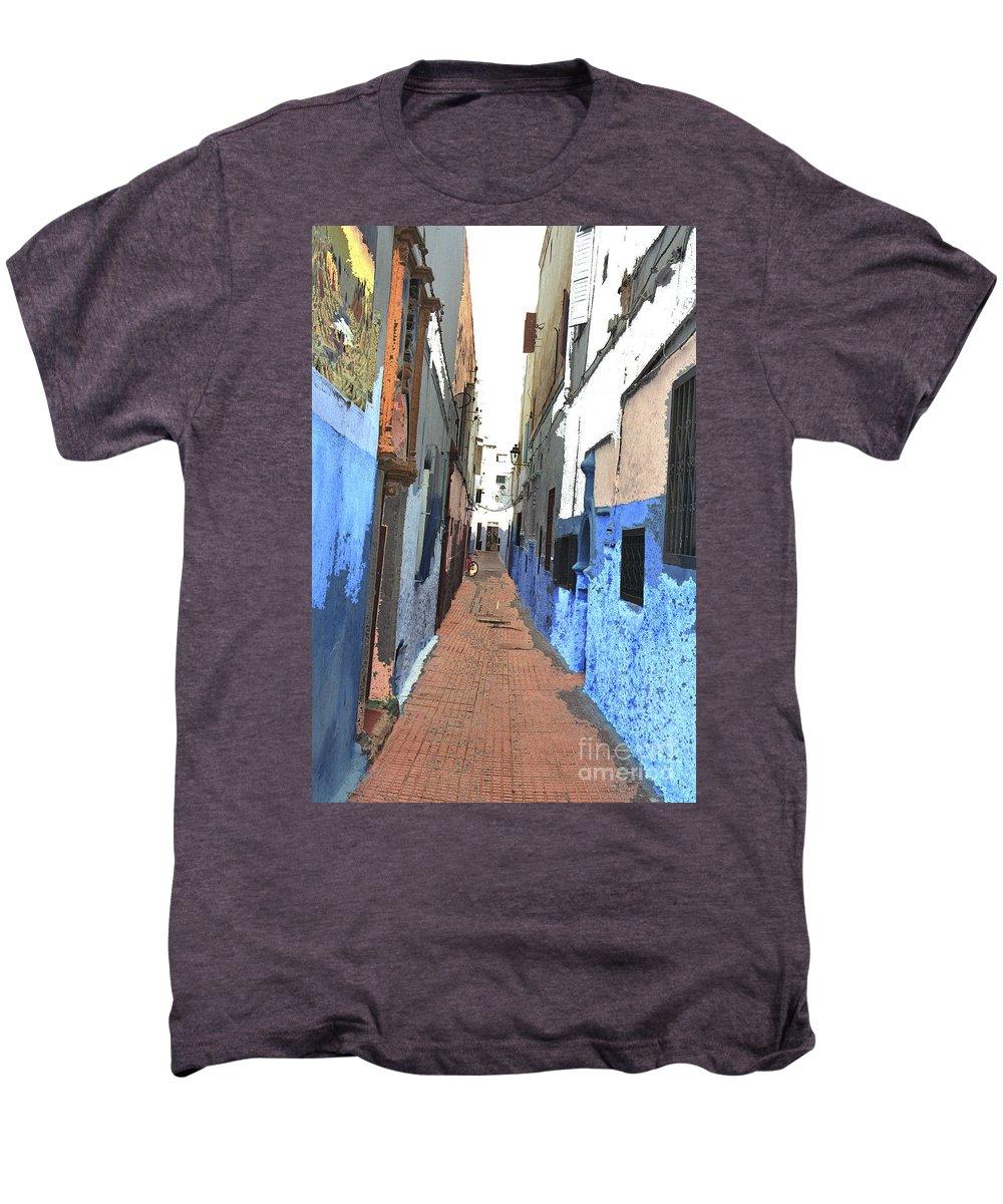 Urban Men's Premium T-Shirt featuring the photograph Urban Scene by Hana Shalom