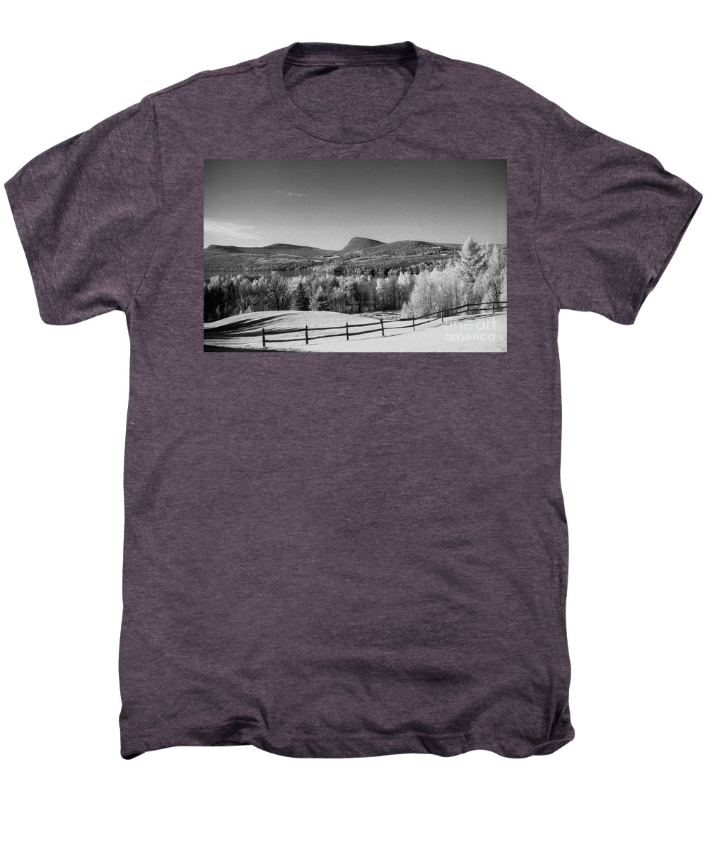 Landscape Men's Premium T-Shirt featuring the photograph View Of Lake Willoughby by Richard Rizzo