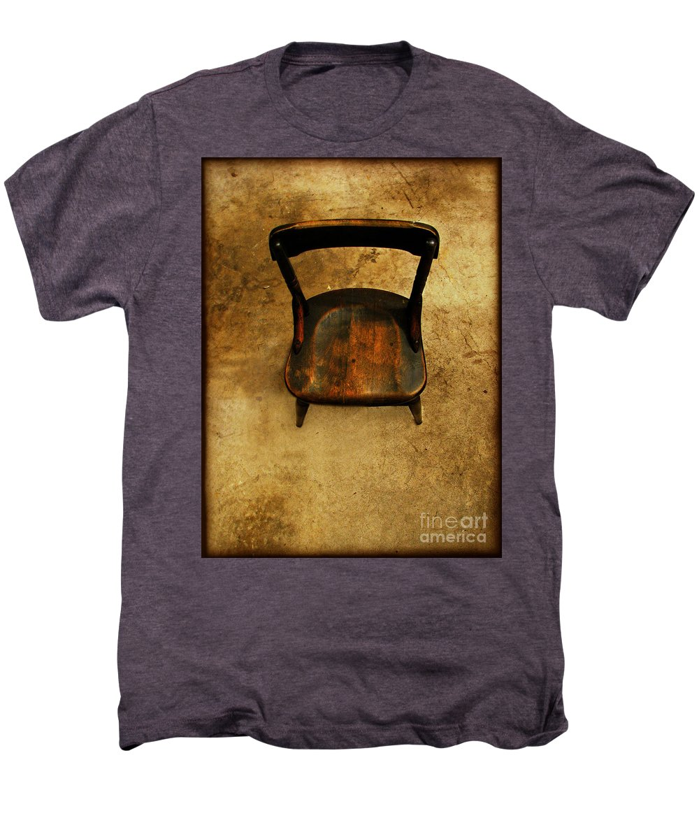 Alone Men's Premium T-Shirt featuring the photograph Waiting To Say Goodbye by Dana DiPasquale