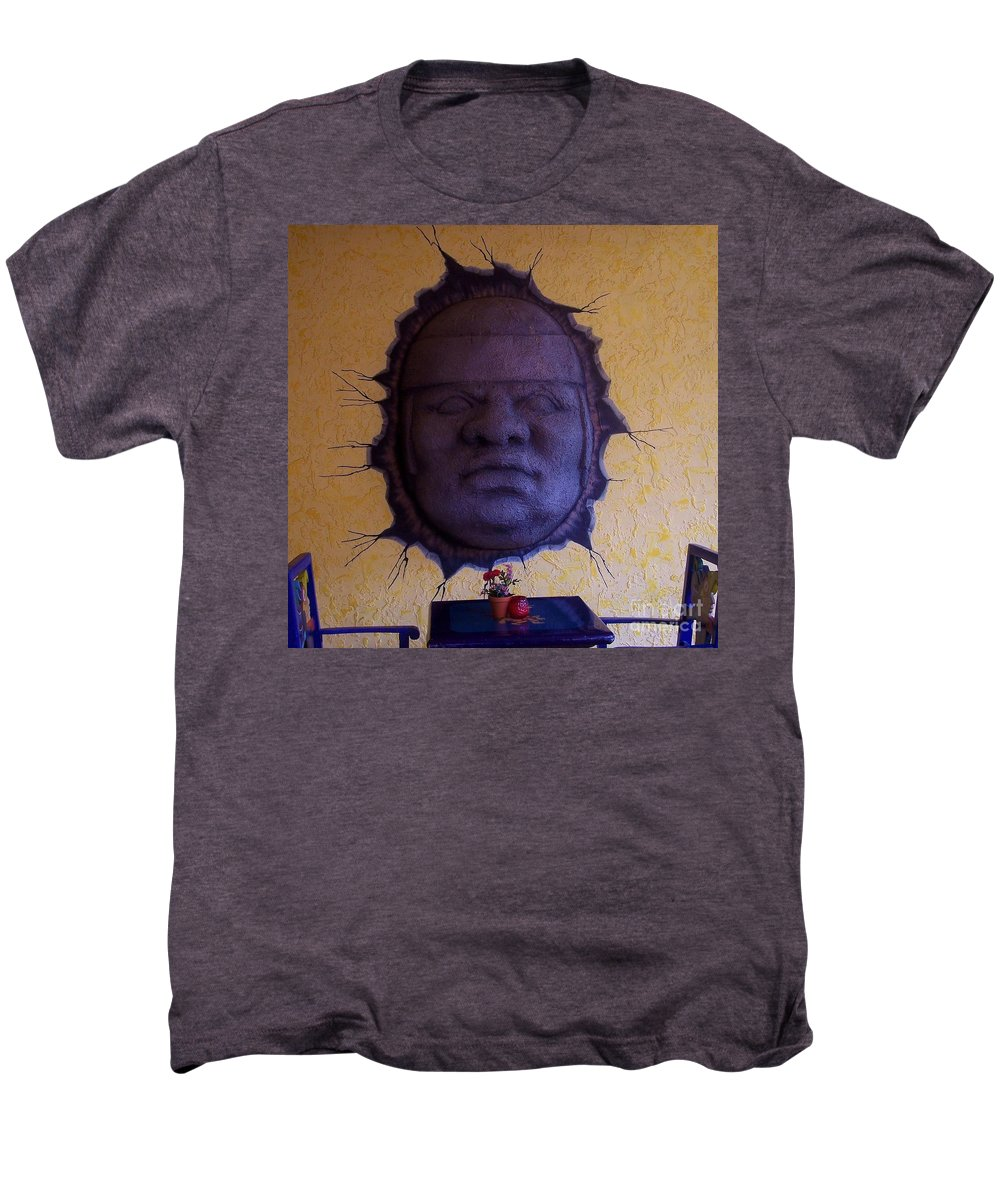 Face Men's Premium T-Shirt featuring the photograph Watch What You Eat by Debbi Granruth