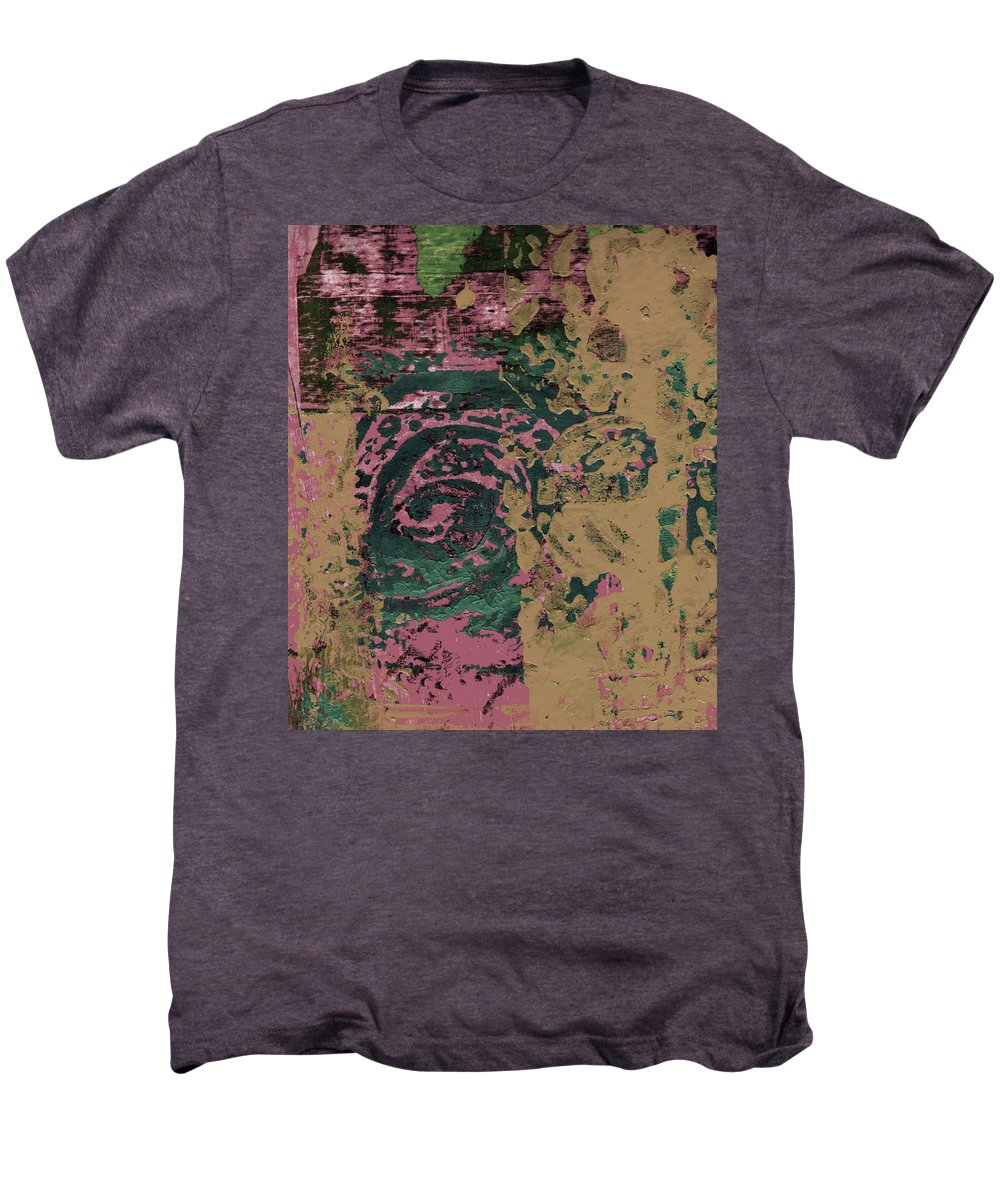Abstract Men's Premium T-Shirt featuring the painting Watching by Wayne Potrafka