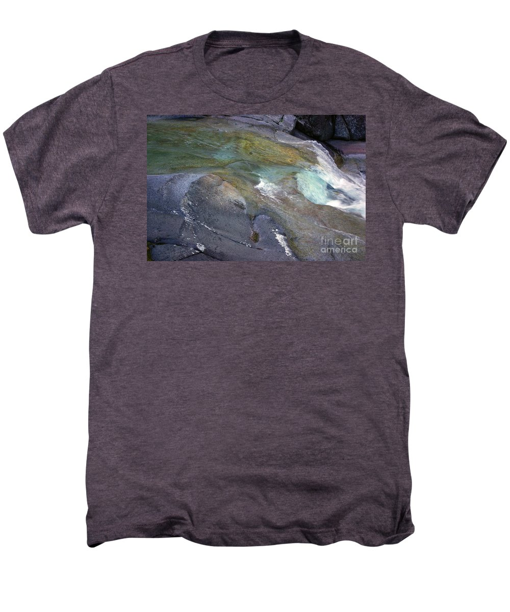 Tropical Men's Premium T-Shirt featuring the photograph Water Flow by Kerryn Madsen- Pietsch