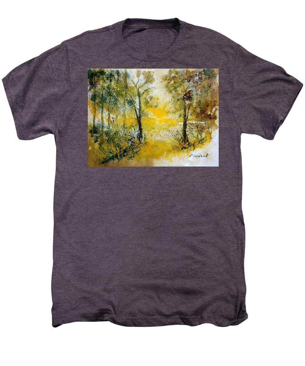 River Men's Premium T-Shirt featuring the painting Watercolor 210108 by Pol Ledent