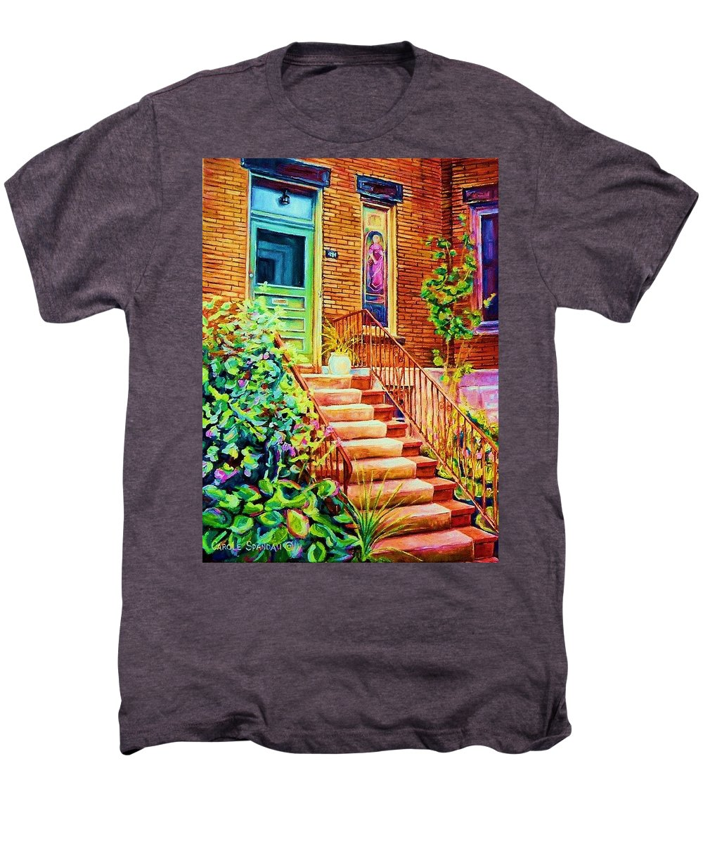 Westmount Home Men's Premium T-Shirt featuring the painting Westmount Home by Carole Spandau