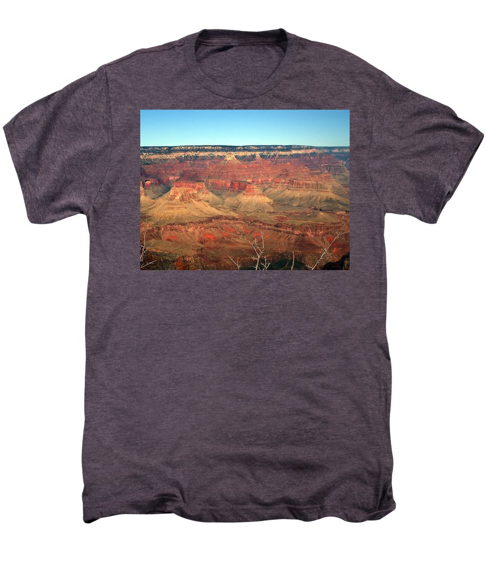 Grand Canyon Men's Premium T-Shirt featuring the photograph Whata View by Shelley Jones