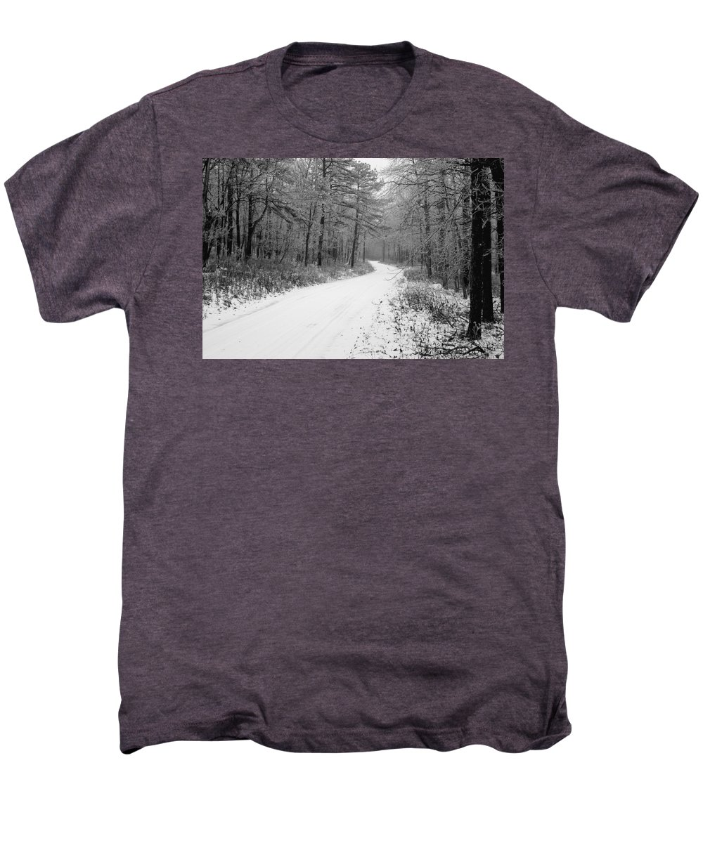 Winter Men's Premium T-Shirt featuring the photograph Where Will It Lead by Jean Macaluso
