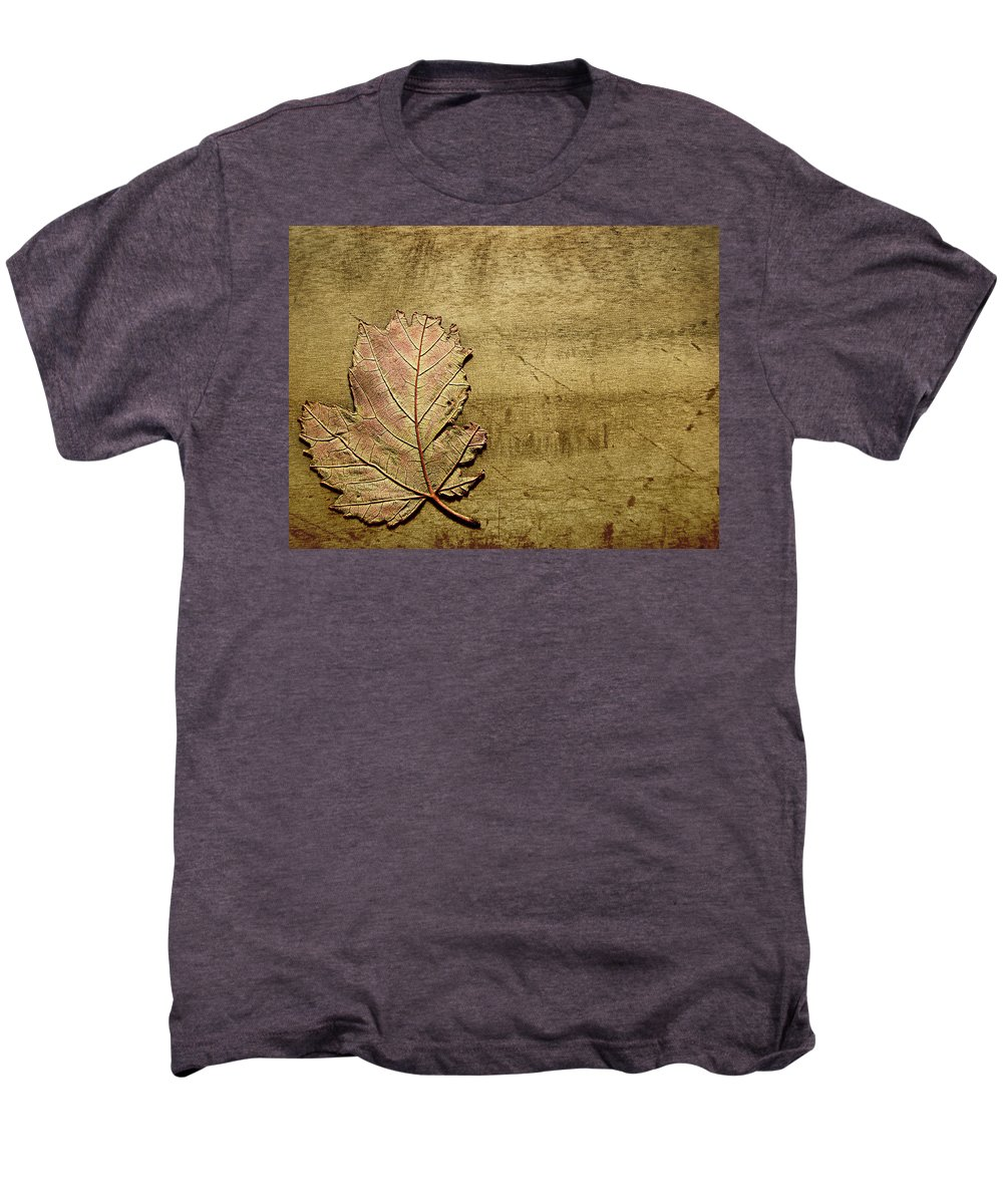 Autumn Men's Premium T-Shirt featuring the photograph ...while You Fall Apart by Dana DiPasquale