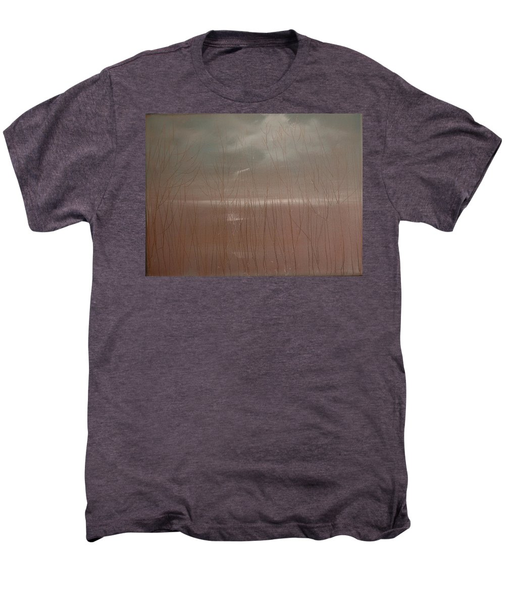 Dusk Men's Premium T-Shirt featuring the painting Winter Of Hope by Jack Diamond