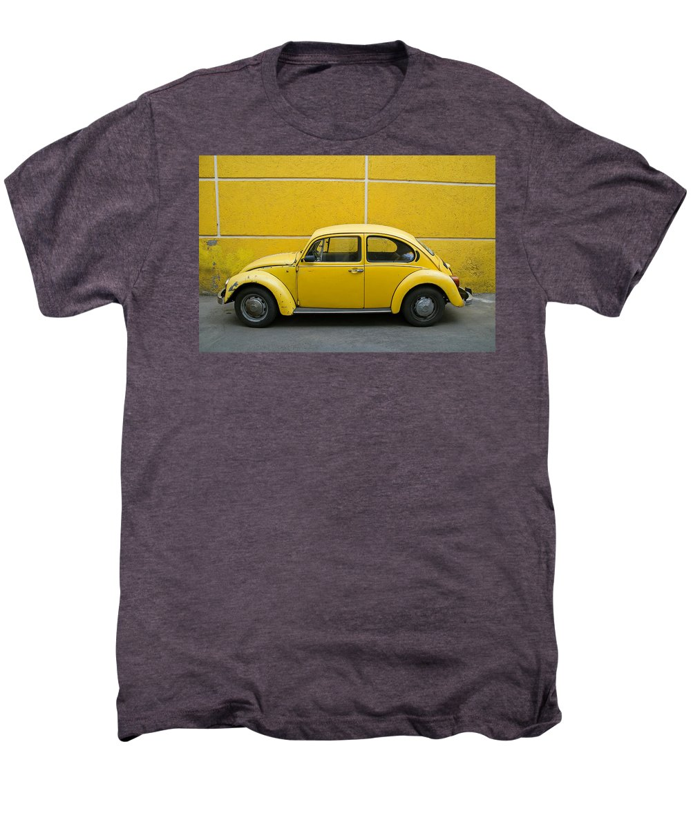 Yellow Men's Premium T-Shirt featuring the photograph Yellow Bug by Skip Hunt