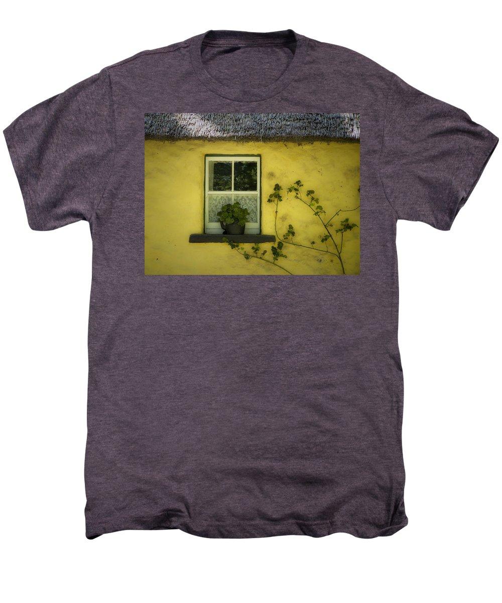 Irish Men's Premium T-Shirt featuring the photograph Yellow House County Clare Ireland by Teresa Mucha