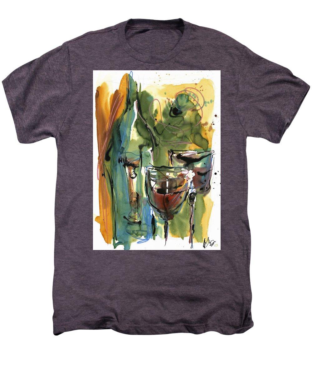 Wine Men's Premium T-Shirt featuring the painting Zin-findel by Robert Joyner