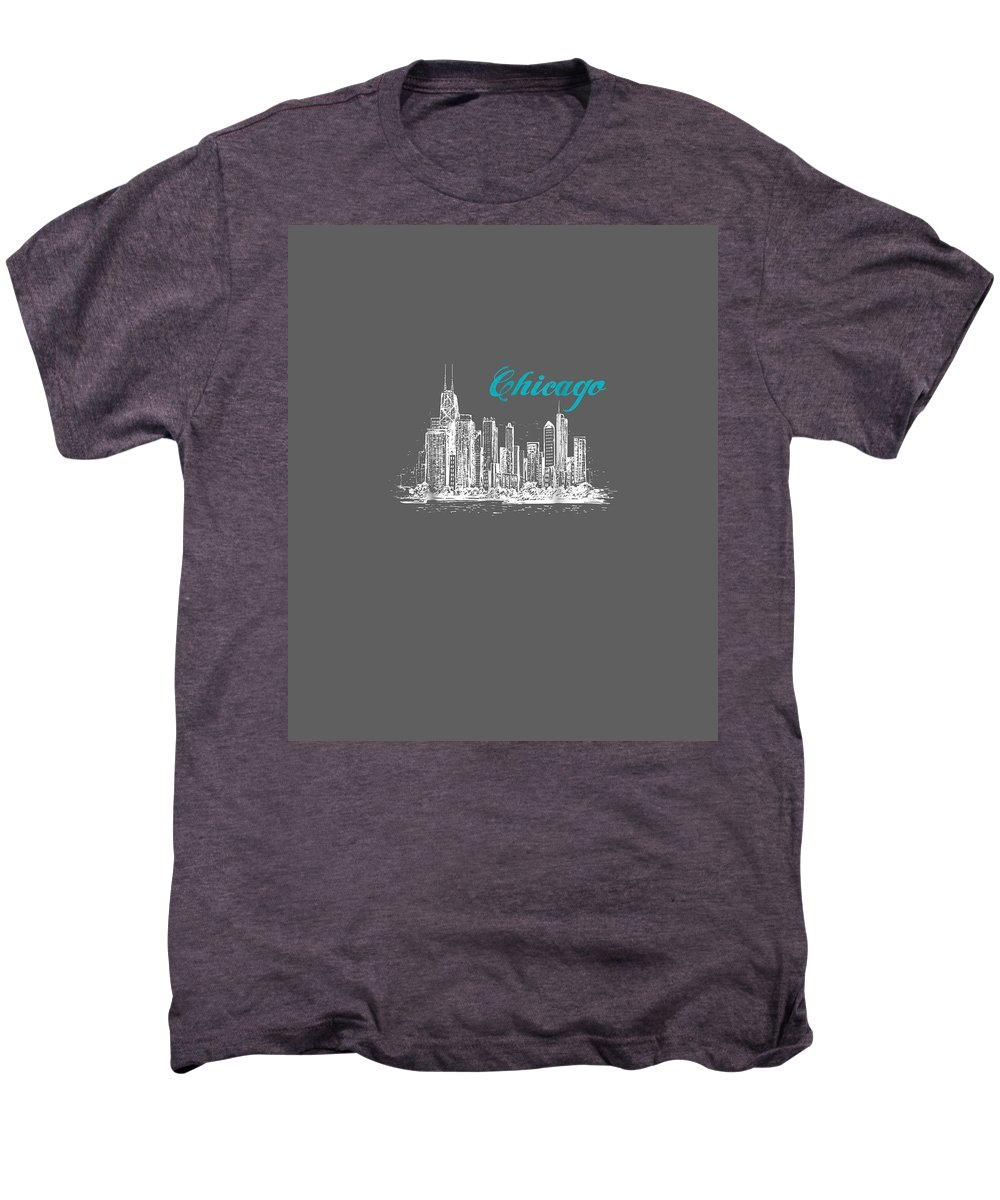 women's Shops Men's Premium T-Shirt featuring the digital art City Of Chicago T-shirt by Unique Tees