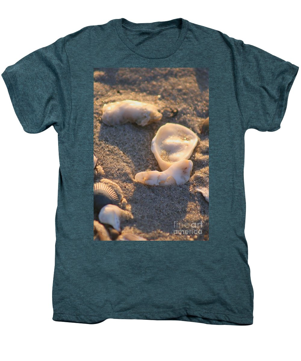Shells Men's Premium T-Shirt featuring the photograph Bald Head Island Shells by Nadine Rippelmeyer