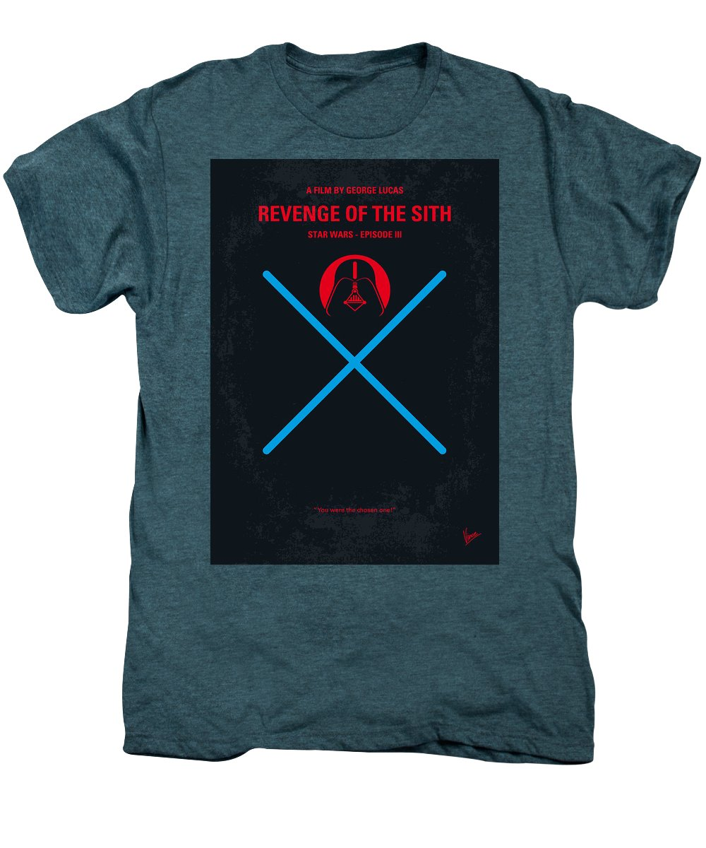 Tar Men's Premium T-Shirt featuring the digital art No225 My Star Wars Episode IIi Revenge Of The Sith Minimal Movie Poster by Chungkong Art