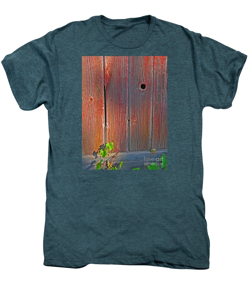 Barn Men's Premium T-Shirt featuring the photograph Old Barn Wood by Ann Horn