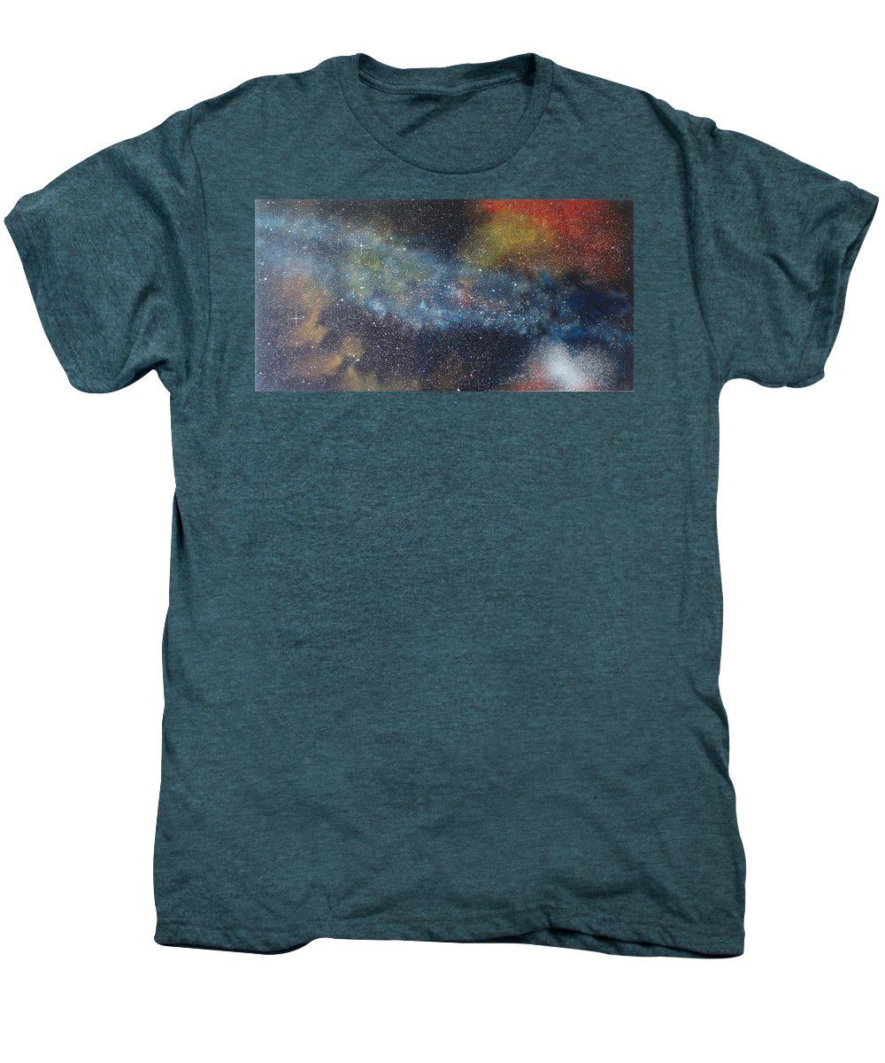 Space;stars;starry;nebula;spiral;galaxy;star Cluster;celestial;cosmos;universe;orgasm Men's Premium T-Shirt featuring the painting Stargasm by Sean Connolly