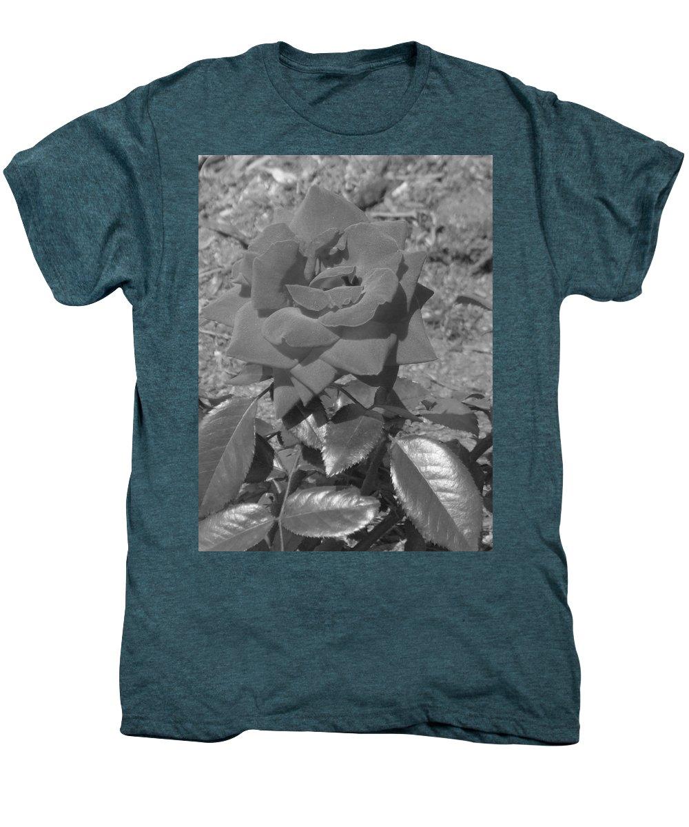 Rose Men's Premium T-Shirt featuring the photograph Velvet Rose by Pharris Art