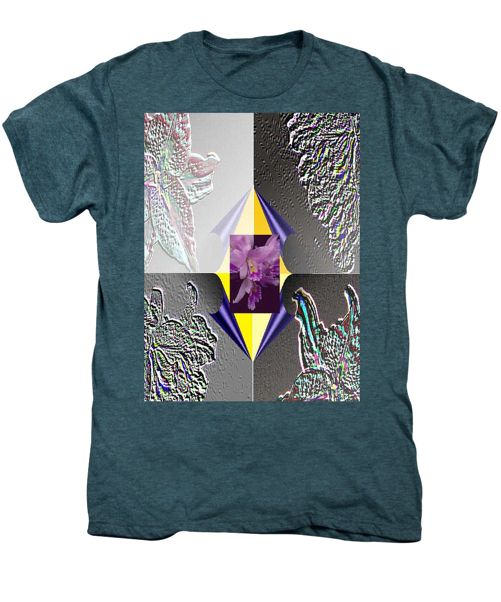 Florals Men's Premium T-Shirt featuring the digital art 4 Points Of Interest by Brenda L Spencer