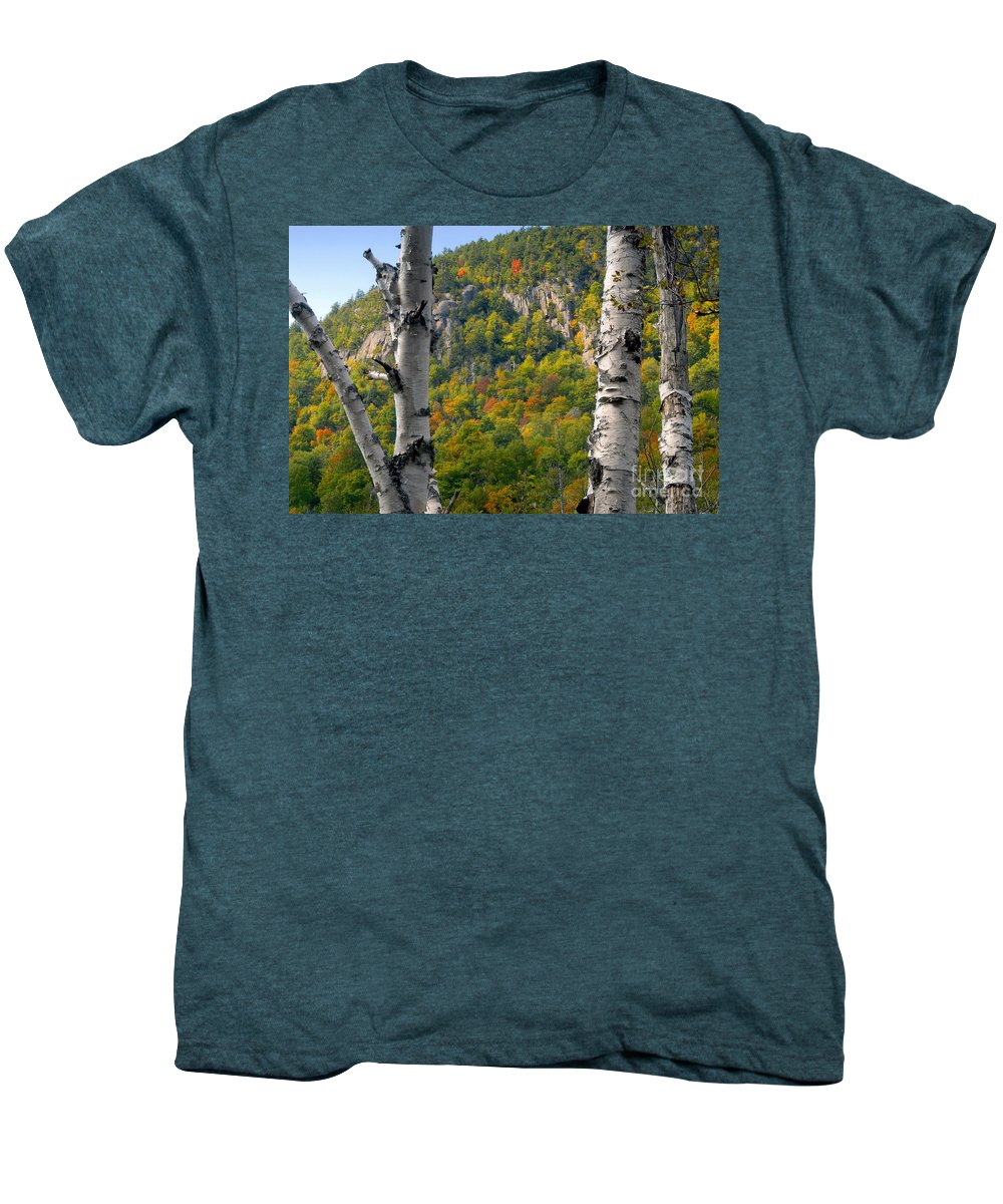 Adirondack Mountains New York Men's Premium T-Shirt featuring the photograph Adirondack Mountains New York by David Lee Thompson