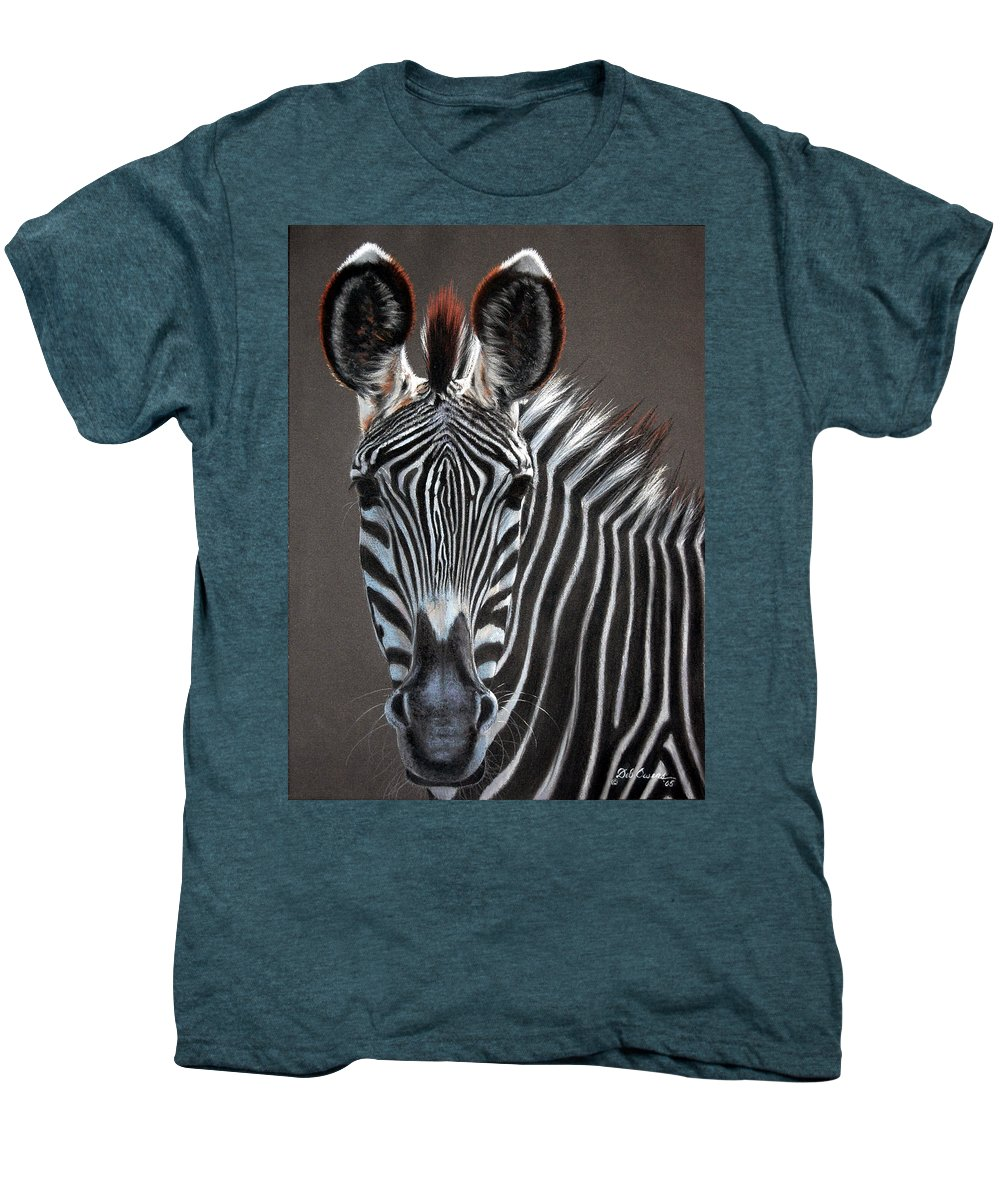 Wildlife Men's Premium T-Shirt featuring the painting African Beauty by Deb Owens-Lowe