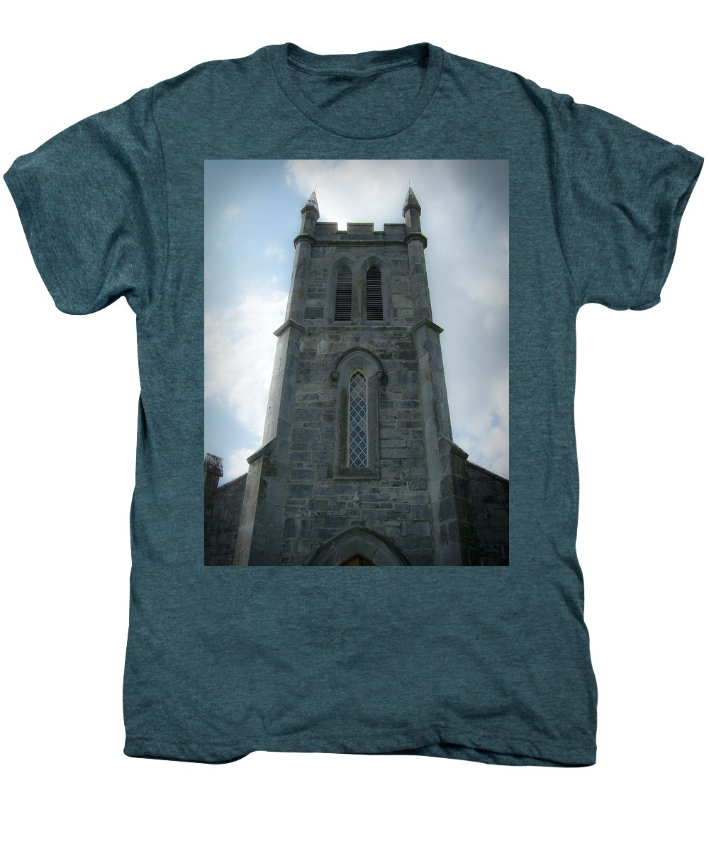Irish Men's Premium T-Shirt featuring the photograph Ardcroney Church County Clare Ireland by Teresa Mucha