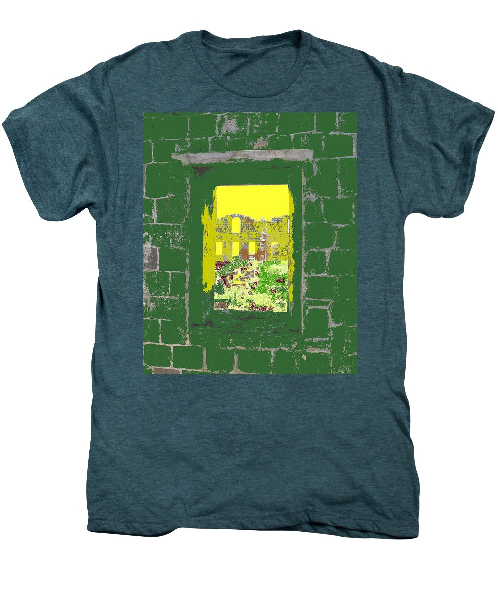Brimstone Men's Premium T-Shirt featuring the photograph Brimstone Window by Ian MacDonald