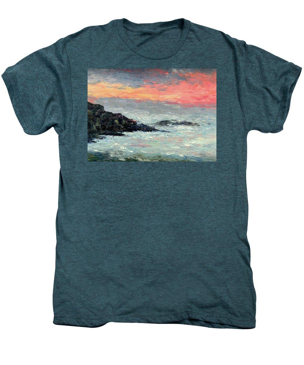 Seascape Men's Premium T-Shirt featuring the painting California Coast by Gail Kirtz