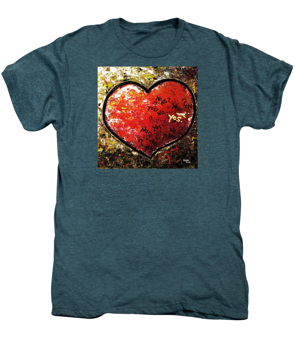 Pop Men's Premium T-Shirt featuring the painting Chaos In Heart by Hiroko Sakai