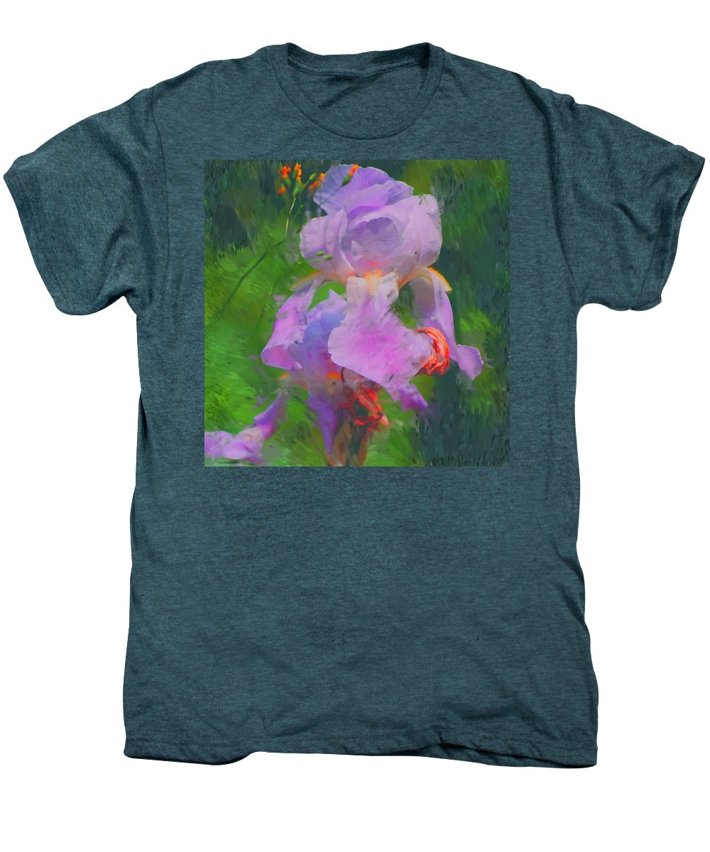 Iris Men's Premium T-Shirt featuring the painting Fading Glory by David Lane